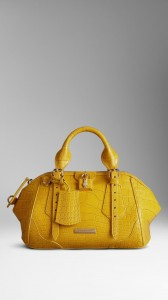 Sac Burberry The Blaze en cuir d'alligator