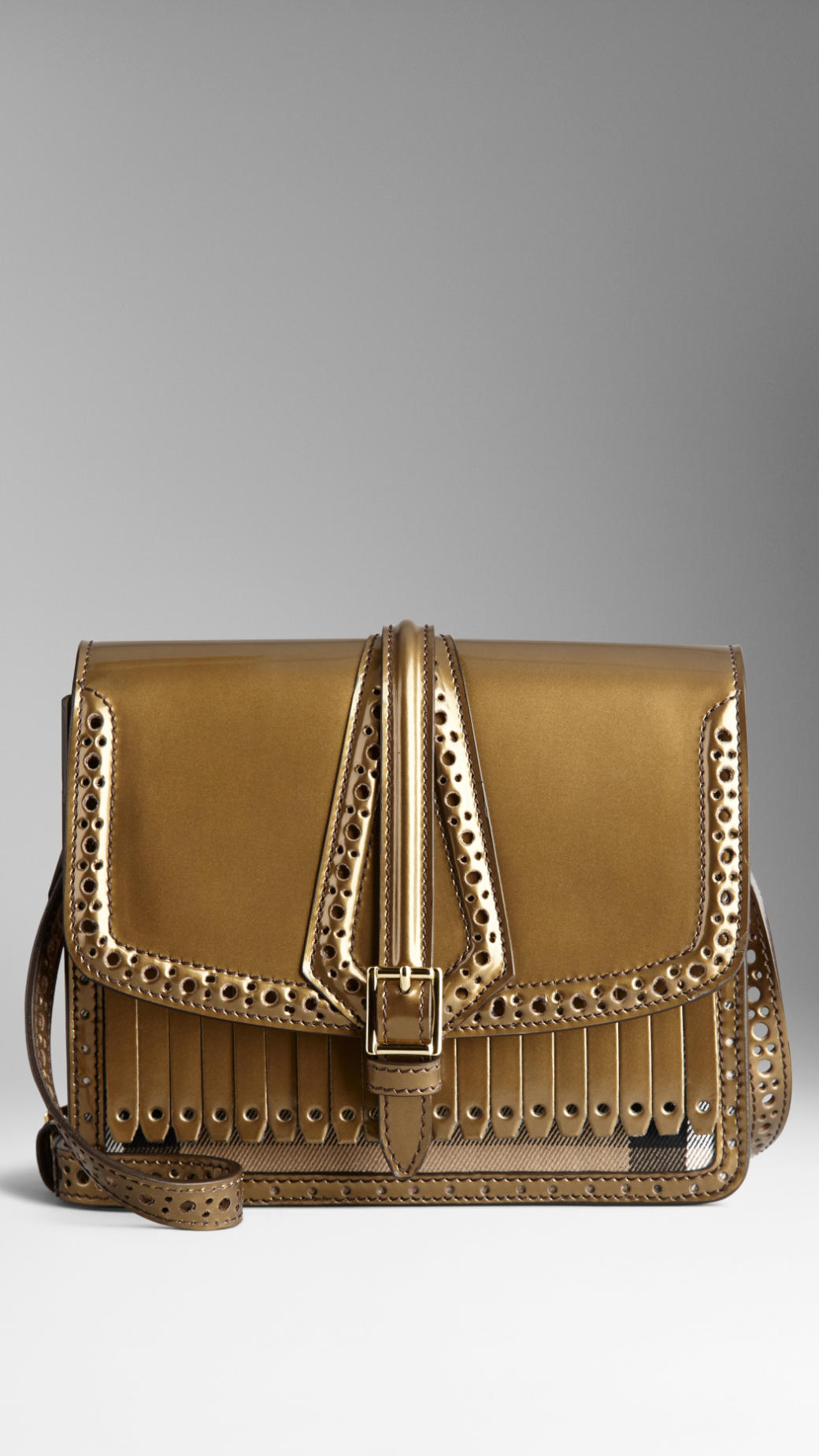 Sac Burberry house check de style Richelieu