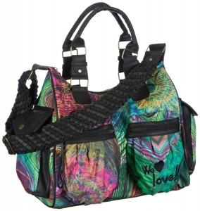 Sac Desigual soldes Carry Over Ondon Rayas