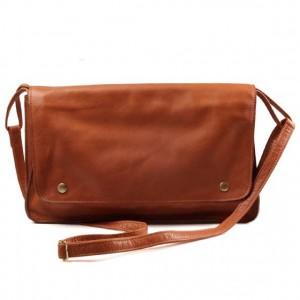 sac a main cuir marron vintage
